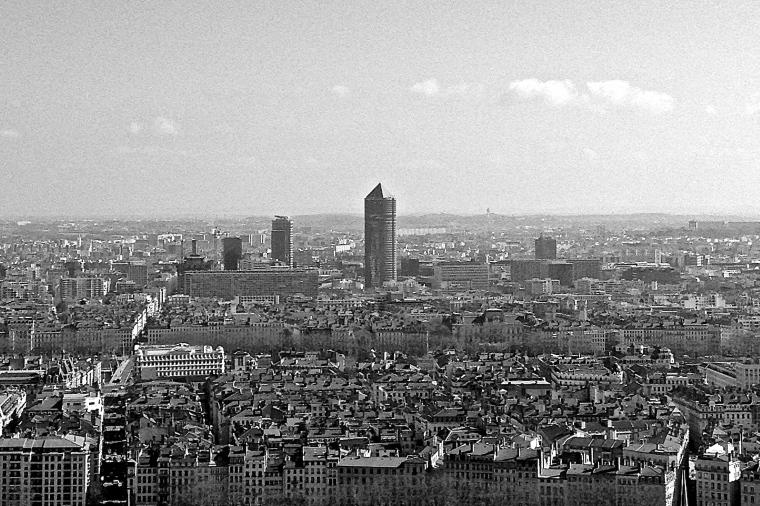 photo de Lyon en noir et blanc