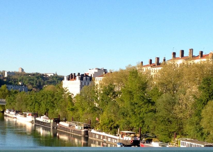 les péniches à Lyon