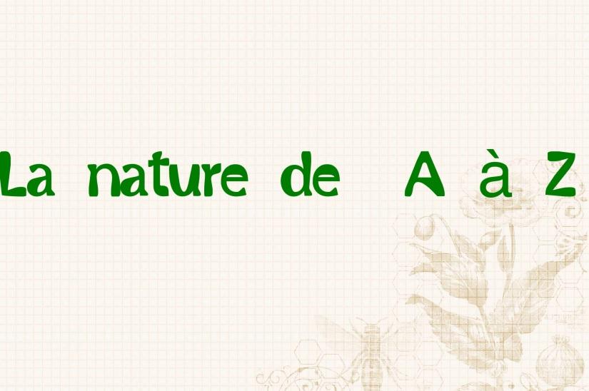 nature abécédaire