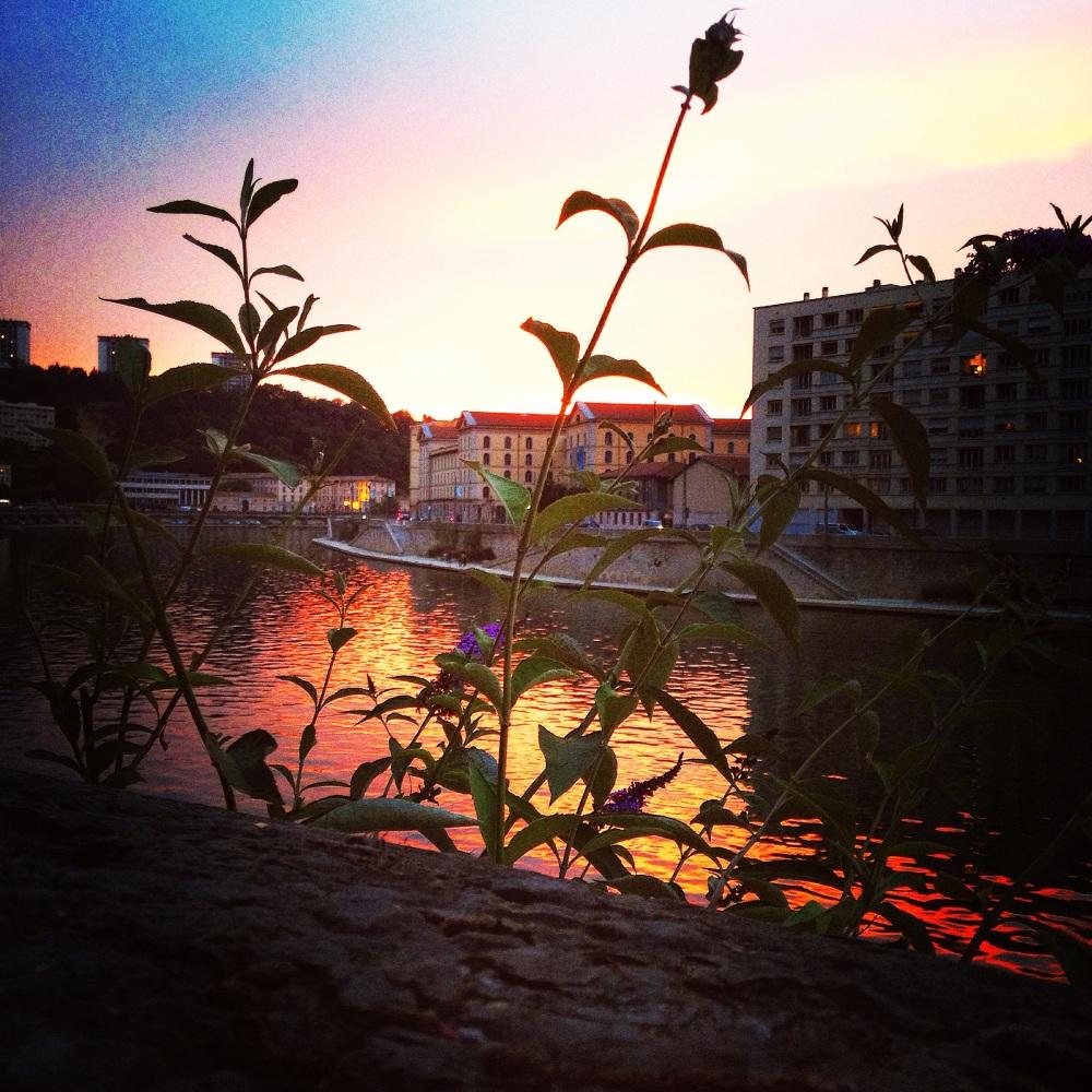 coucher de soleil à Lyon