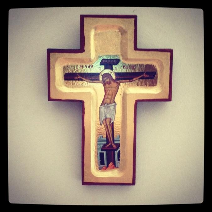 Croix catholique de décoration