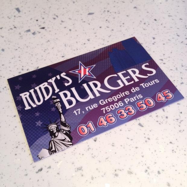 Ruby's burgers