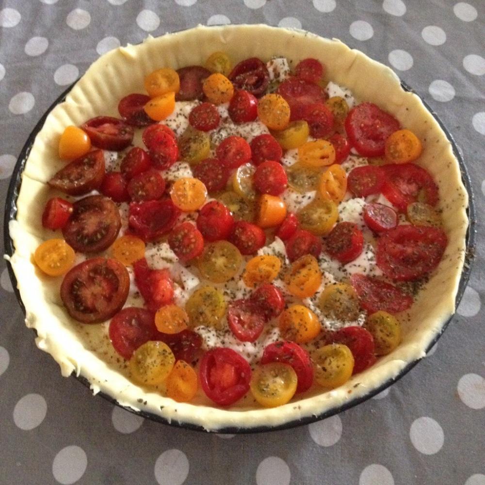 Tarte tomates mozarella