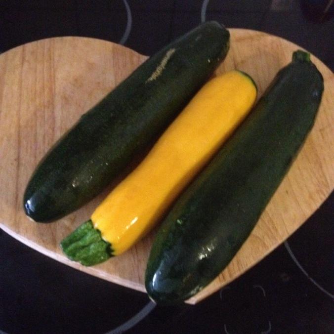 courgettes jaune et vertes