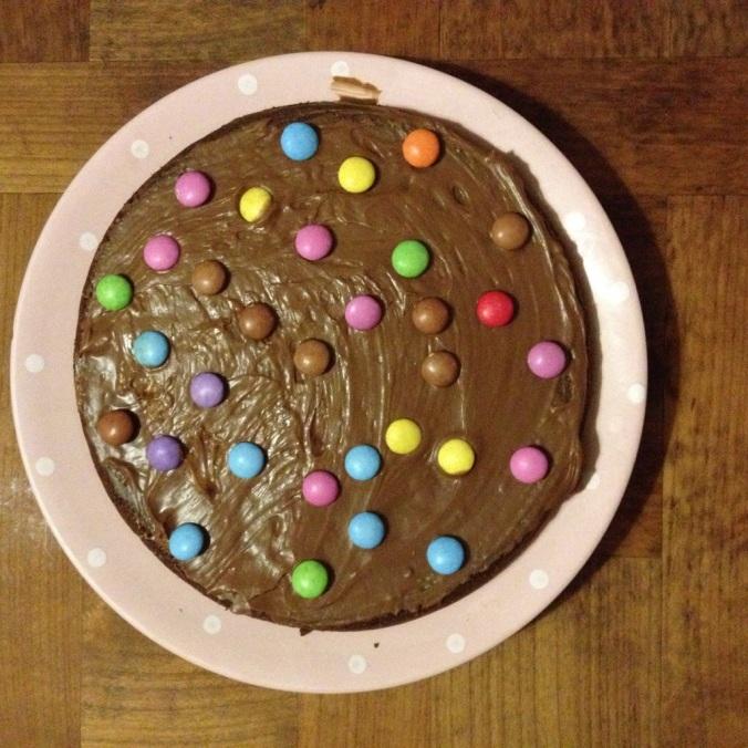Gâteau au chocolat avec nuage de nutella