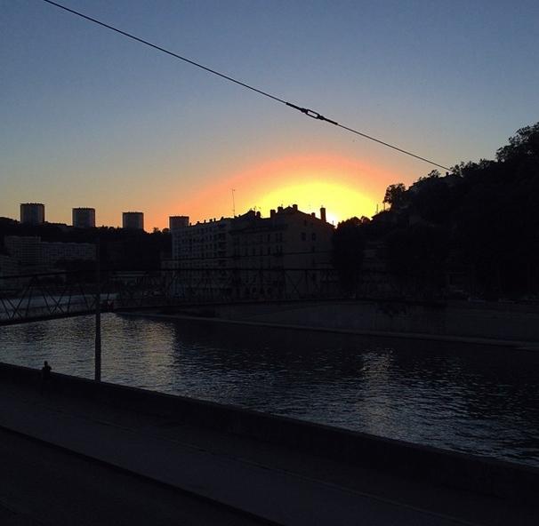 Coucher de soleil lyonnais