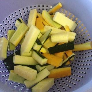 courgettes jaunes courgettes vertes
