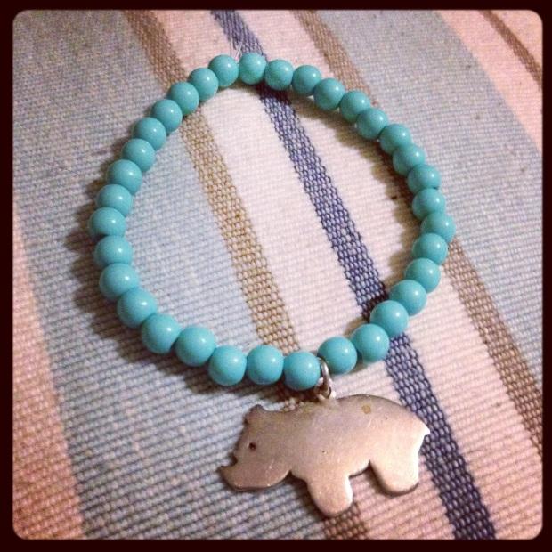 bracelet turquoi et argent