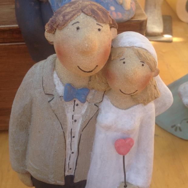 Couple de maries en ceramique