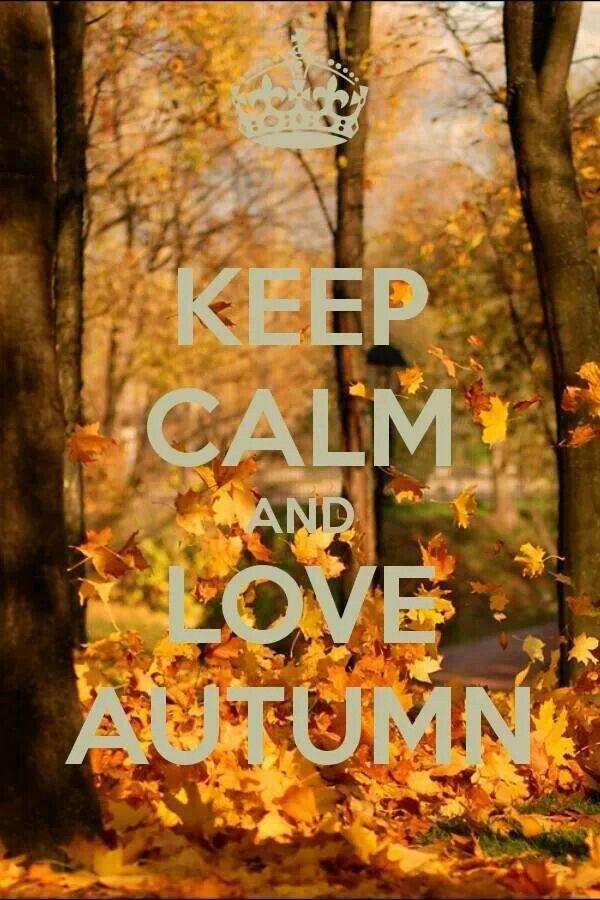 keep calm and love automn