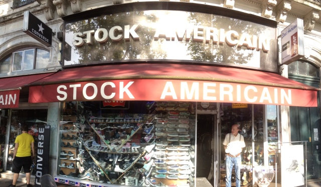 stock américain devanture