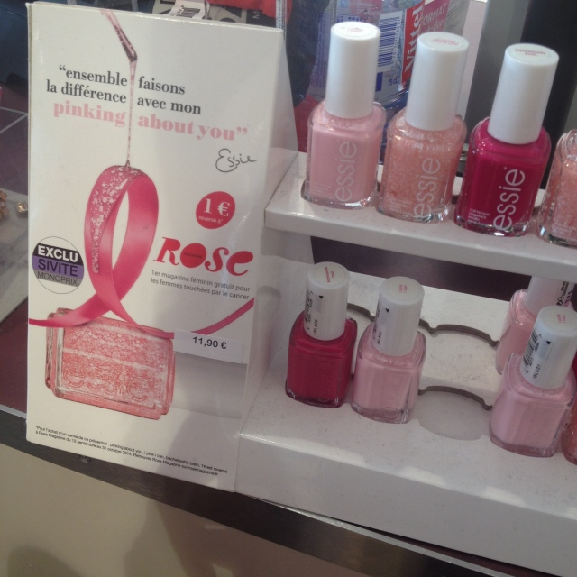 vernis a ongles ESSIE octobre rose