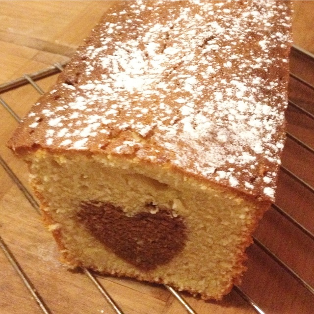 cake avec coeur chocolat
