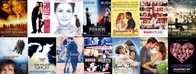 sélection films Saint Valentin
