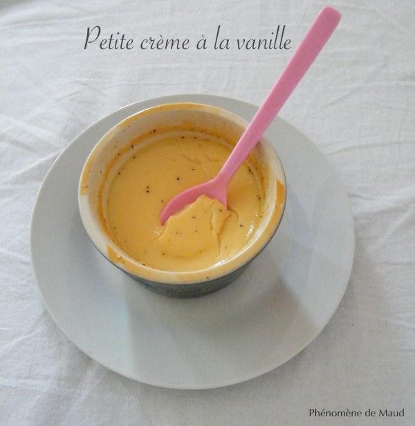 crème à la vanille