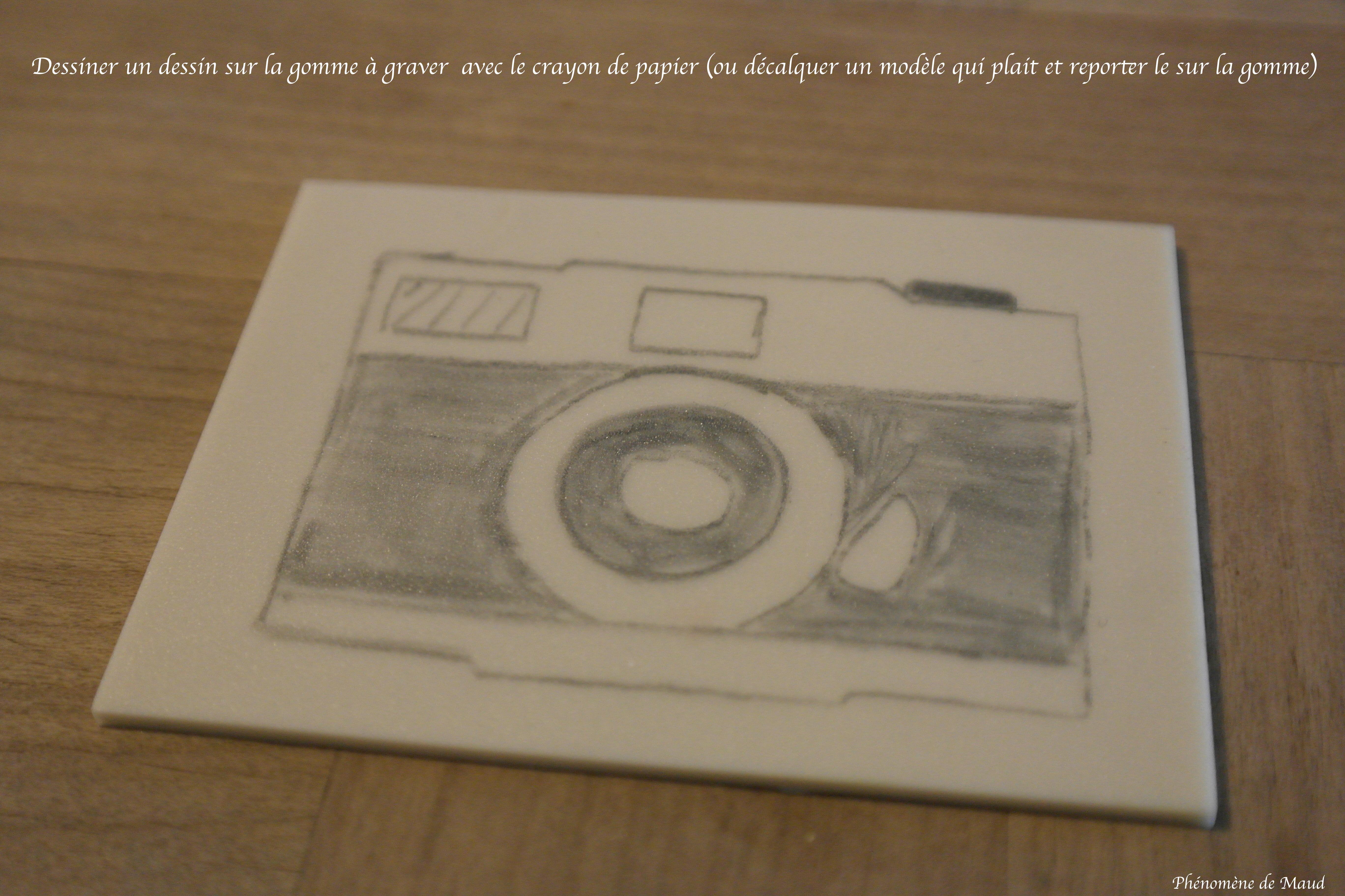 diy faire un tampon avec de la gomme graver ph nom ne de maud. Black Bedroom Furniture Sets. Home Design Ideas