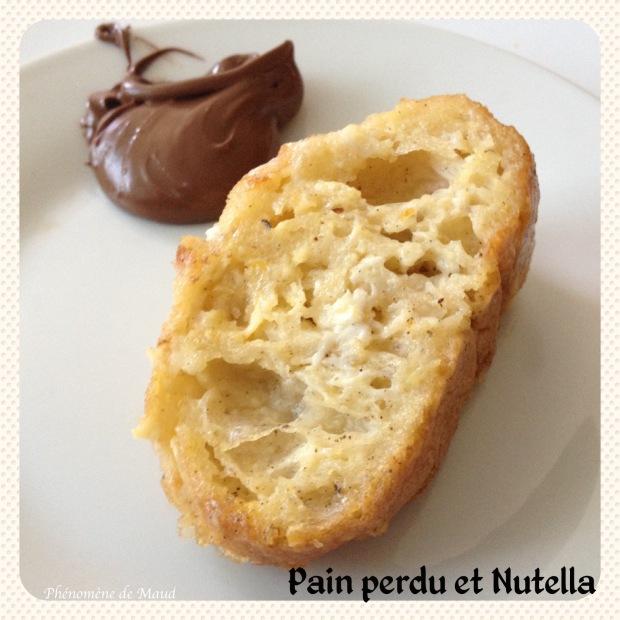 pain perdu au nutella