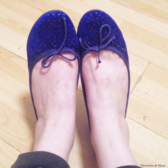ballerines bleues