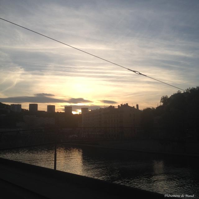 Lyon coucher de solel