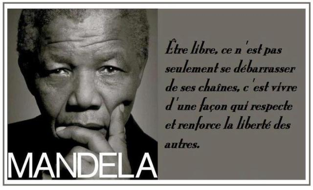 liberté Nelson Mandela