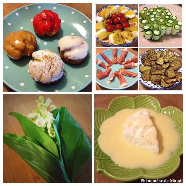 muguet antipasti choux ile-flottante