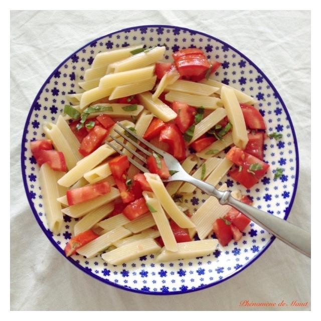 pates tomates fraiches basilic