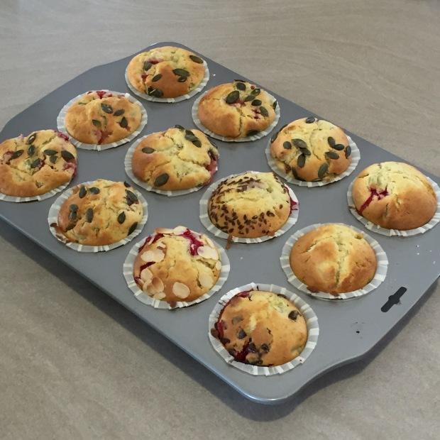 muffins fraises rhubarbes