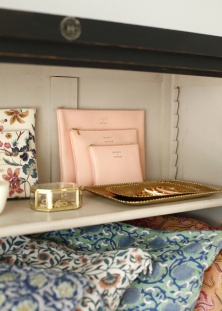 pochette Delfonies petite pochette rose poudre