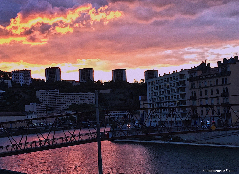 coucher de soleil Lyon