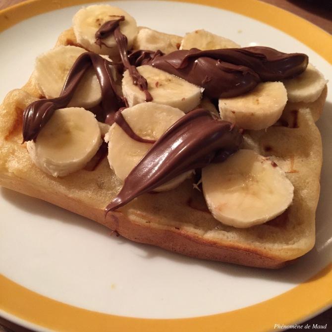 gaufre banane nutella