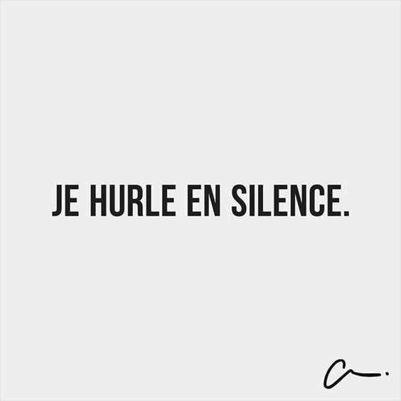 hurler en silence