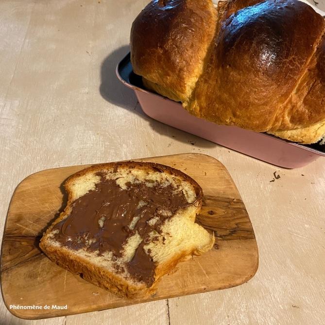 brioche maison et pâte à tartiner