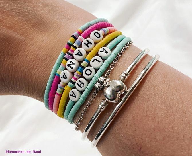 bracelets perles heishi phenomene de maud