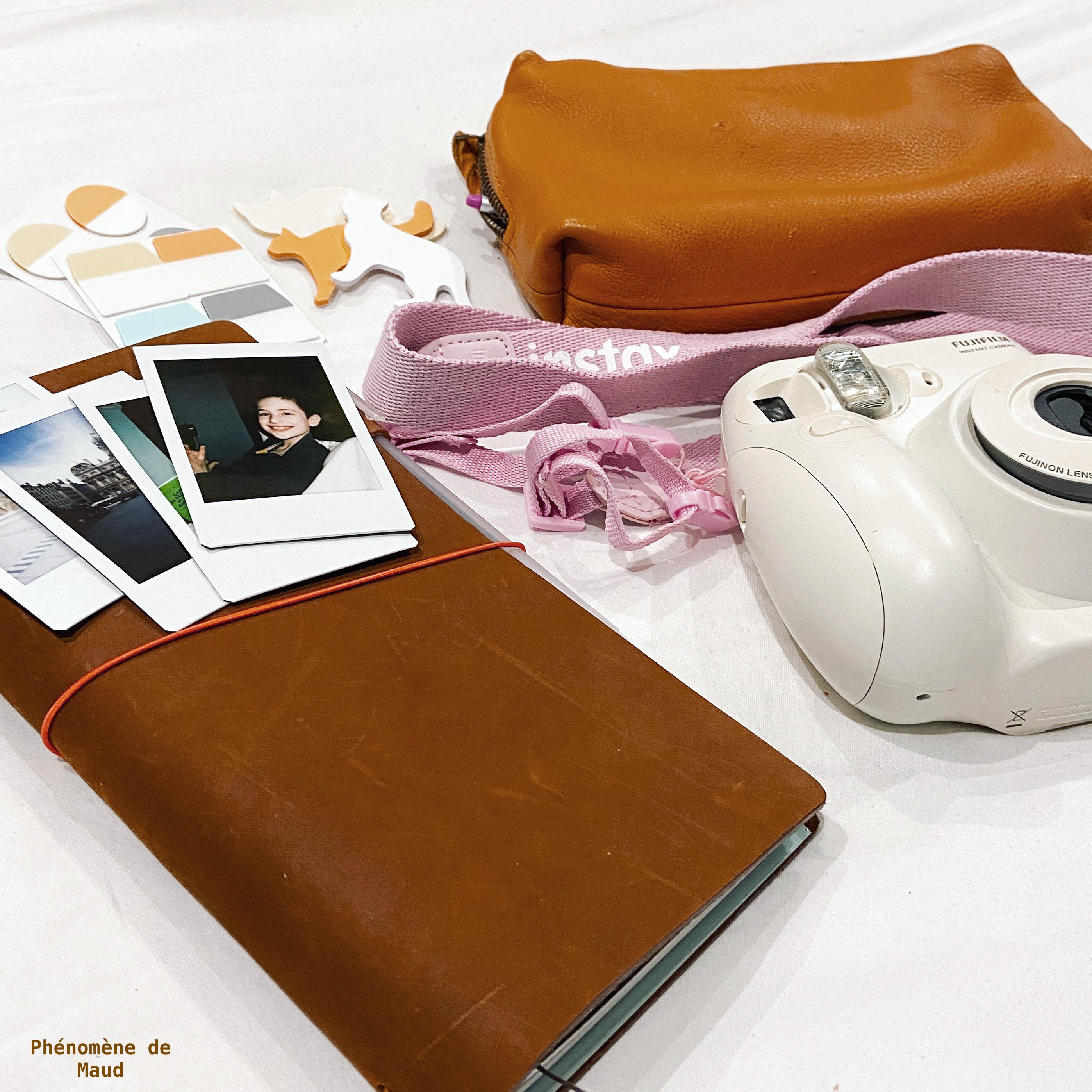 traveler's note book appareil instax mini