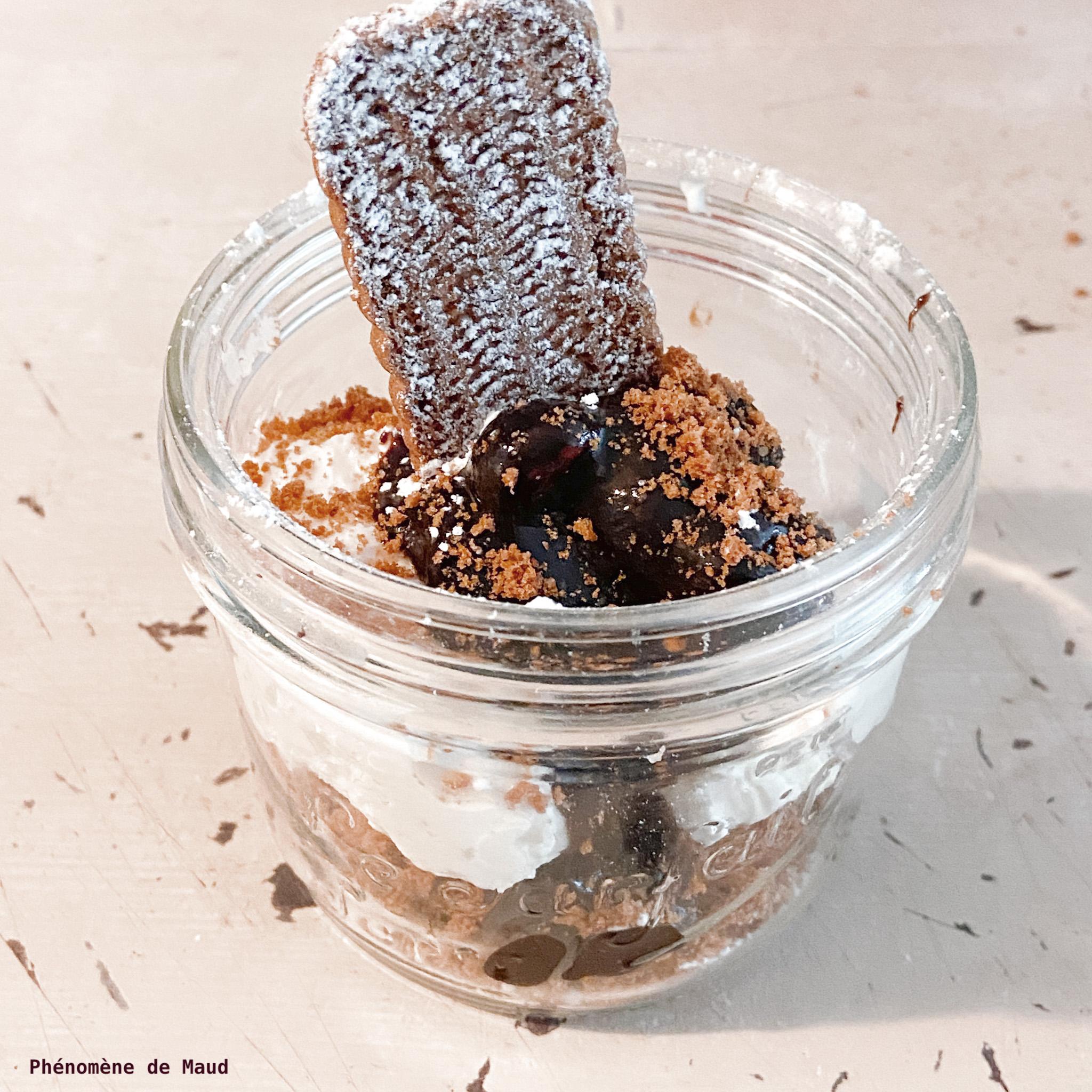 verrine spéculoos mascarpone sauce chocolat