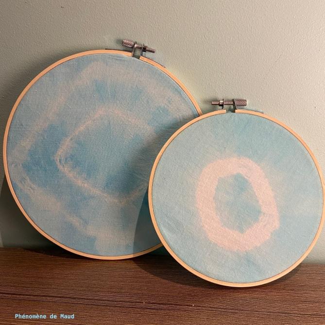 décoration cercles à broder teinture IDEAL